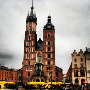 St Mary's Basilica in the Main Market Square, Krakow