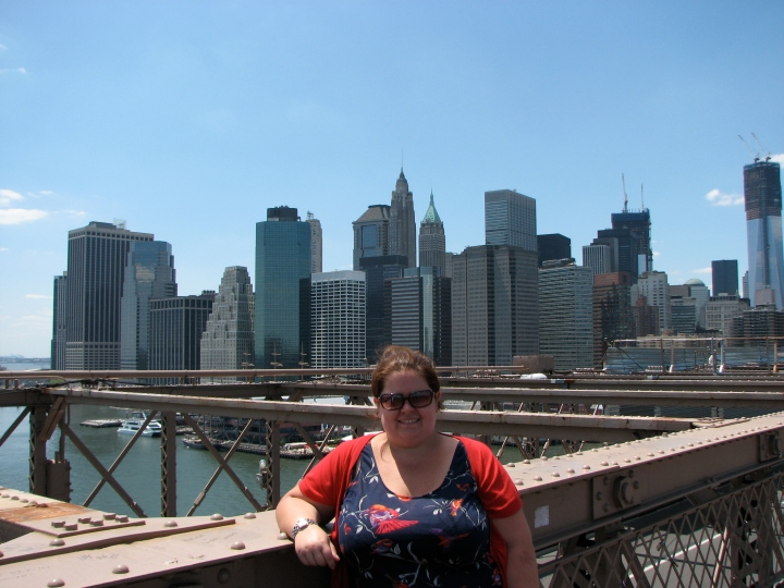 Me on the Brooklyn Bridge in NYC