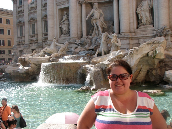 Me at the Trevi Fountain in Rome