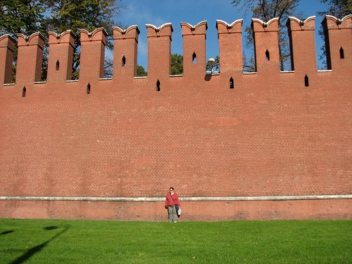 The massive Kremlin Walls, Moscow