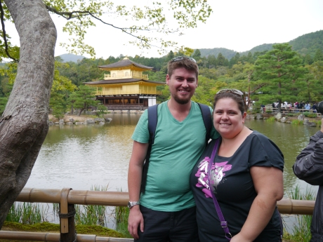 Me & Mick at the Golden Pavilion in Kyoto