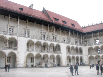 Inside the arcaded courtyard, Wawel Castle