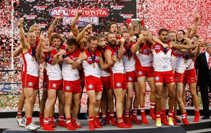My Sydney Swans winning the Premiership in 2012