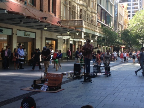 Talented young buckets that I stumbled upon in Pitt St Mall