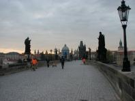 Charles Bridge just after sunrise