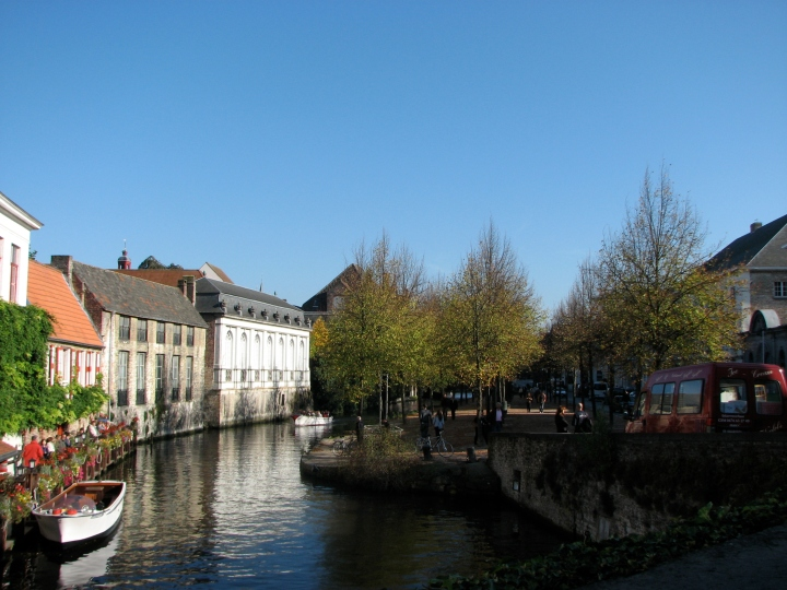 Canals around Bruges