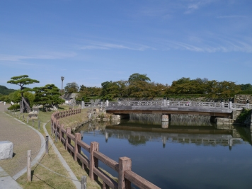 The moat around Himeji Castle