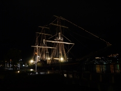 Tall ship in Nagasaki harbour