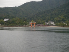 Approaching Miyajima on the ferry