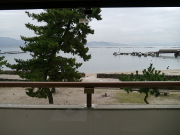 The view from our room at Miyajima Ryoken