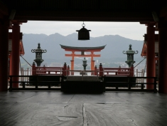 Itsukushima Shrine and the floating tori gate, Miyajima