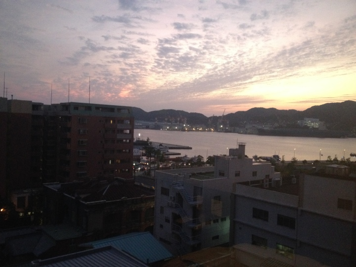 The view from our Nagasaki Hotel room