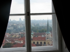 View from inside Prague Castle
