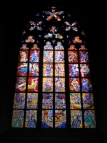 One of the many gorgeous windows in St Vitus Cathedral